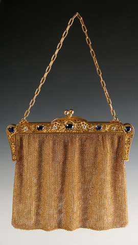 14K Gold Purse with Diamonds