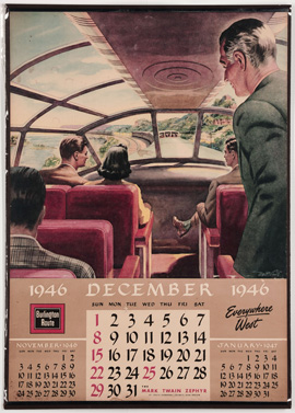 Burlington Route 1946 Calendar