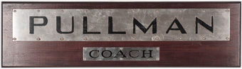 Pullman Coach Railroad Sign