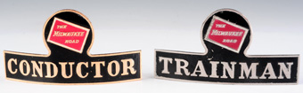 The Milwakee Route Conductor and Trainman Badges