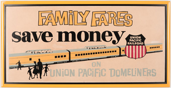 Union Pacific Advertisement Sign Domeliner