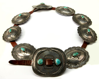 Navajo Jewelry and Conchas