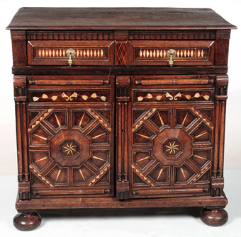 Jacobean Style Inlaid Cupboard