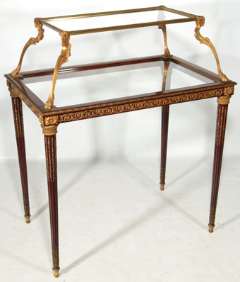 19th century french louis XVI mahogany pastry table