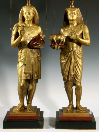 emile louis picault (1833-1915) bronze egyptian figures