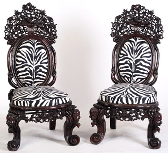 extraordinary anglo chinese carved chairs
