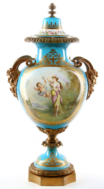 good ormolu mounted sevres style vase signed bertren