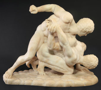 italian alabaster - the wrestlers