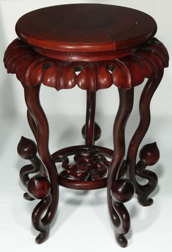unusual early 20th century chinese hardwood stand table