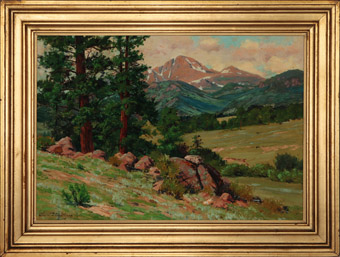 Charles Partridge Adams (1858-1942)Longs Peak from Estes Park, Colorado