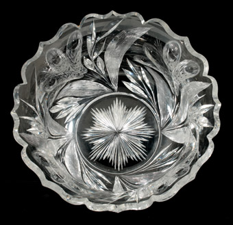 American Brillian Period Cut Glass