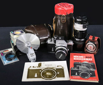 Nikon Nikkormat FTN with Lenses and Accessories