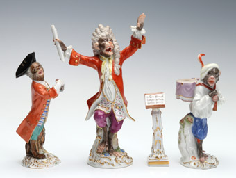 10-Piece Meissen Monkey Band