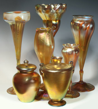 Tiffany and Loetz Art Glass