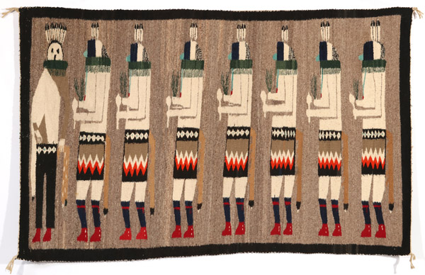 A Navajo Yei-Be-Chai Pictorial Weaving, 42 x 68 Inches