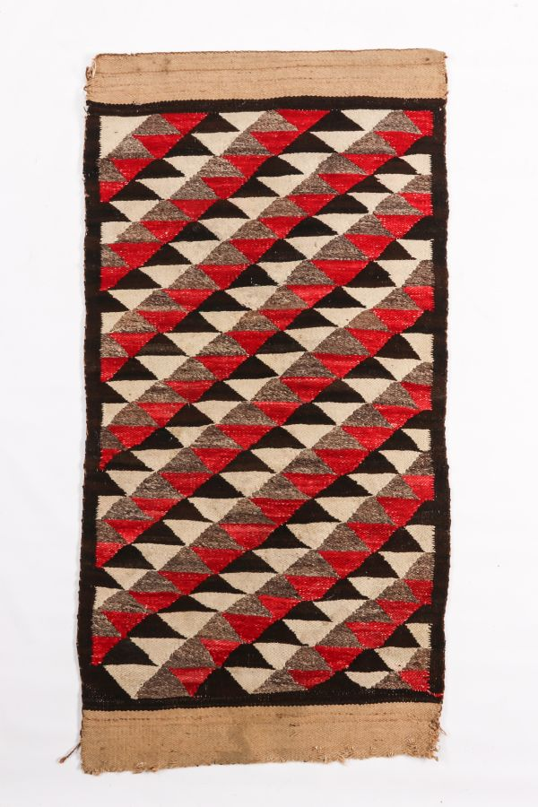 Navajo Transitional Blanket of Unusual (Wedge?) Weave