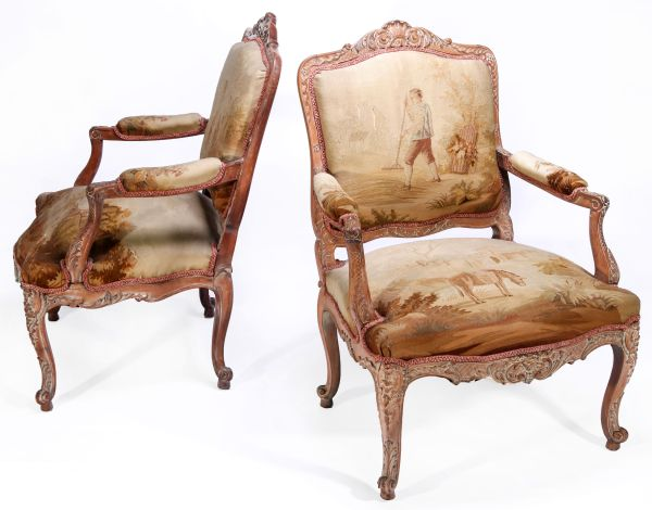 19th Century Needlepoint Chairs