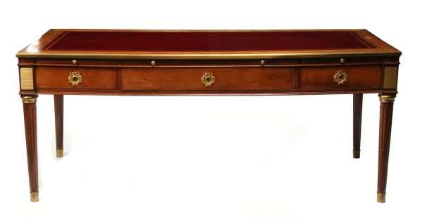 A Very Fine 18th C. French Bureau Plat in the Manner of Kochly
