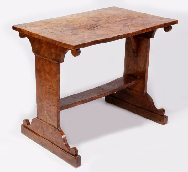 A Very Rare Solid Burr Elm Side Table