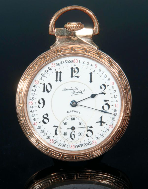 Illinois Santa Fe Special Railroad Grade Pocket Watch