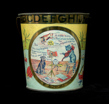 Collection of Victorian Tin Litho Children's Items