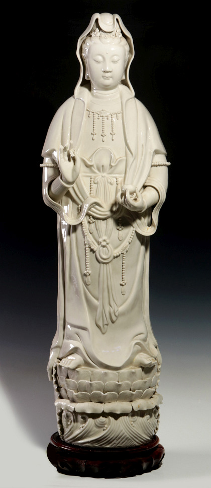 A Blanc De Chine Quan Yin, 43 inches
