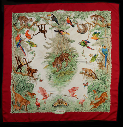 A Collection of Hermes Scarves