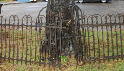 Victorian Iron Fence Gate and Corners