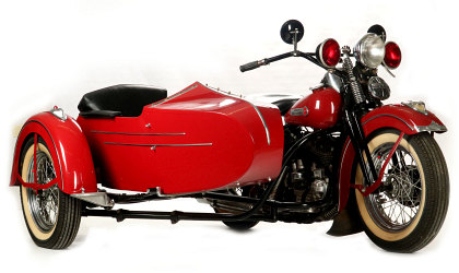 1948 Harley Davidson with Side Car