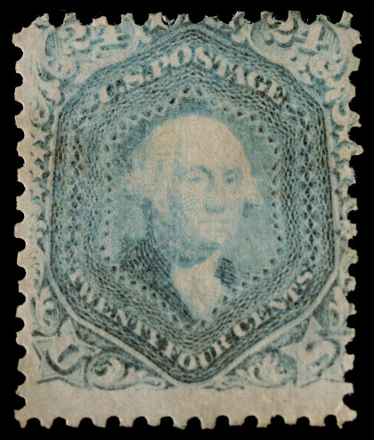 A Rare 24c Steel Blue 1861 Postage Stamp 70B