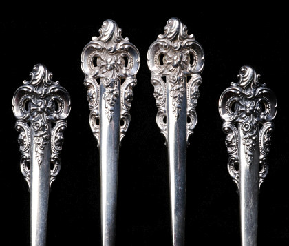 Hundreds of Pieces of Sterling Flatware Including Grand Baroque