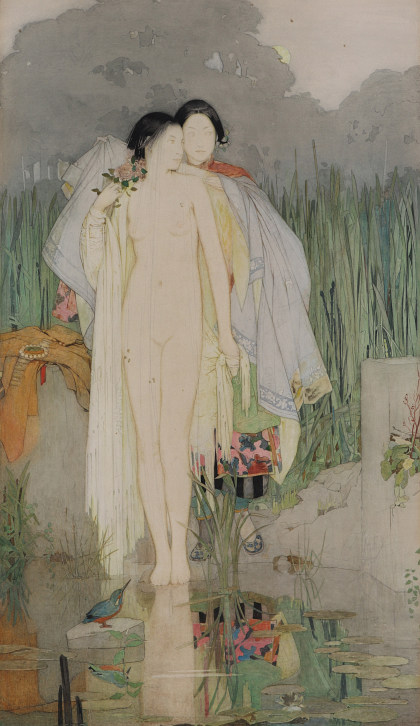 Dorothy Webster Hawksley (1884‑1970), One of Two Watercolors by the Artist