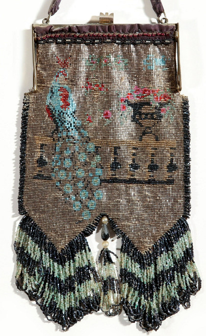 A Large Antique Beaded Bag