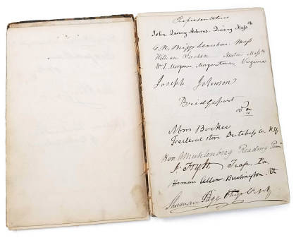 Autograph Book, Members of the 24th Congress of the United States (1835‑1837)