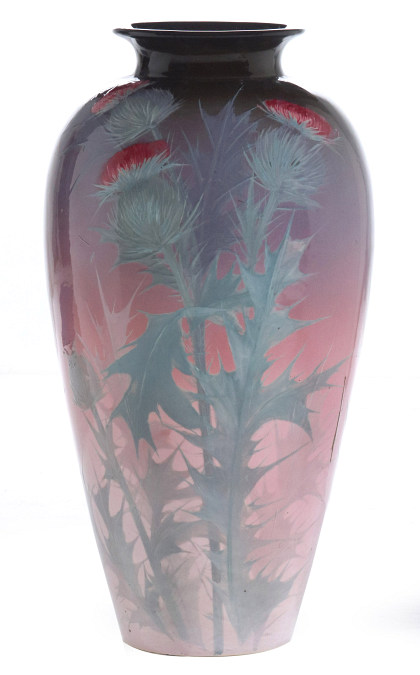 Weller Eocean RoseWorld's Fair Exhibition Vase,25 Inches