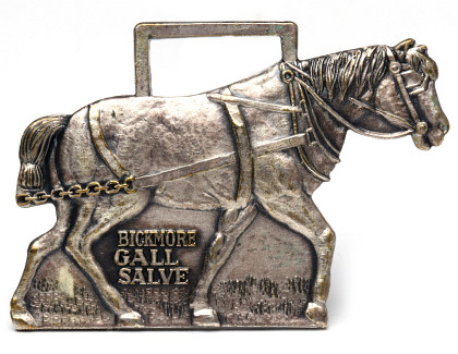 Horseshoe Saddlery, Hames Harness and Remedy Advertising Objects