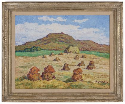 Birger Sandzen (1871‑1954) Oil on Board, Coronado Heights