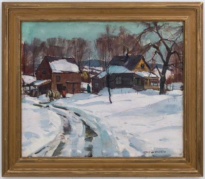 Carl William Peters (1897‑1980)Old Farm Jefferson Ave, Fairpoint NY