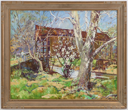 Leslie Cope (1913‑2002)Covered Bridge in Spring