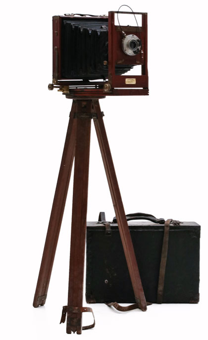 19th C. Mahogany Field Cameras from a Kansas Photographer