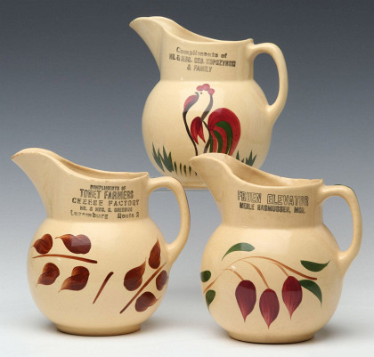 A Collection of Watt Pottery with Advertising