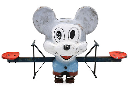Vintage Mickey Mouse Playground Ride