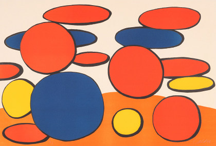 Alexander Calder (1898‑1976) Red and Blue Bubbles