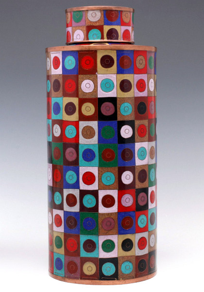 Fabienne Paris French Modernist Cloisonné Enamel