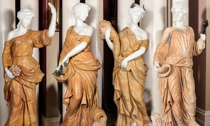 Life-Sized Onyx and Marble Figures of the Four Seasons