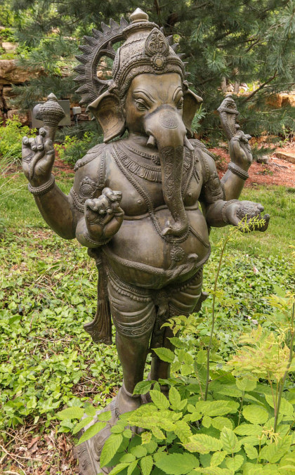 A 52-Inch Bronze Sculpture of Ganesh