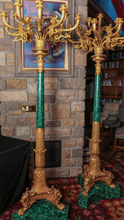 Fabulous 93‑Inch Torchiere Pair