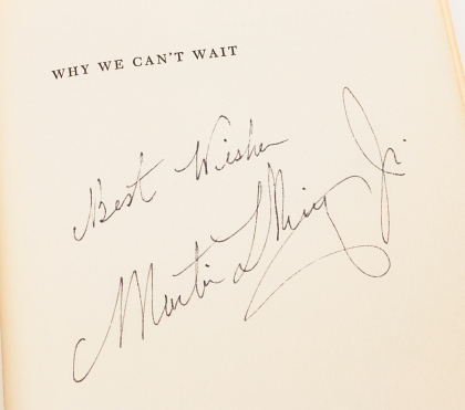 Martin Luther King Jr. Signed First Edition
