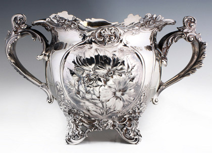 A Large and Rare Gorham Sterling Silver Jardinière