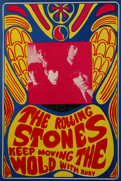Beatles, Bob Dylan, The Rolling Stones and Other 1968 Psychedelic Concert Posters